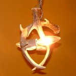 2 light small antler chandelier
