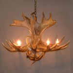 Combination of Moose Antler & Deer Antler Chandelier