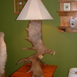 Custom Moose Antler Table Lamp